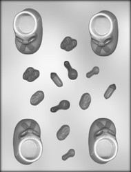 """2-1/2""""BOOTIE/ACCESS.CHOCOLATE CANDY MOLD"""