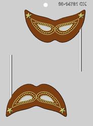 "4.5"" MARDI GRAS MASK SUCKER CHOCOLATE CANDY MOLD."