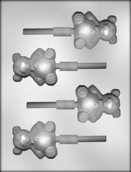 "2-1/2"" BEAR SUCKER CHOCOLATE CANDY MOLD."