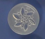 Clear Brooch Mold #36--Clear Silicone