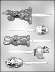 "2""-4"" EASTER ASSTMT SUCKER CHOCOLATE CANDY MOLD"