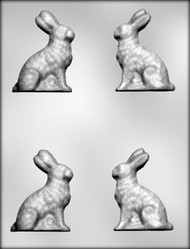 "3"" BUNNY -3D CHOCOLATE CANDY MOLD"