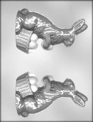 "6"" BUNNY/BASKET 3-D CHOCOLATE CANDY MOLD."