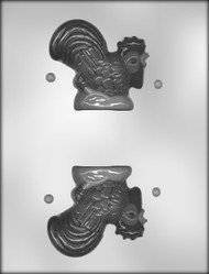 "3-1/2"" 3D ROOSTER CHOCOLATE CANDY MOLD"
