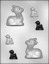 "3"" 3D LAMB CHOCOLATE CANDY MOLD"