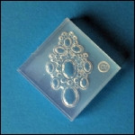 Clear Brooch Mold #51--Clear Silicone