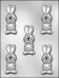 "3-1/2"" BUNNY W/BOW CHOCOLATE CANDY MOLD"