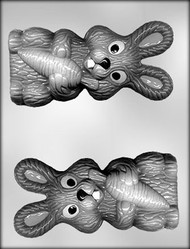 "6"" BUNNY W/CARROT CHOCOLATE CANDY MOLD"