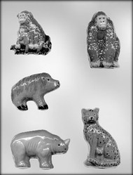 "2-1/4"" - 3-1/4"" ANIMAL CHOCOLATE CANDY MOLD"