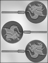 "3"" DRAGON SUCKER CHOCOLATE CANDY MOLD"