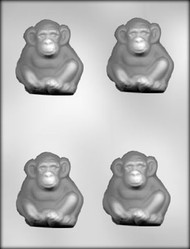 "2-3/4"" MONKEY CHOCOLATE CANDY MOLD"