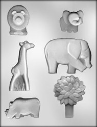 "1-3/4"" - 3-3/4"" ANIMAL CHOCOLATE CANDY MOLD"
