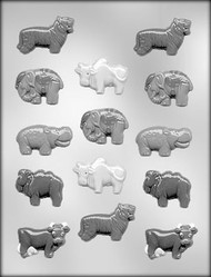 "2"" ANIMAL ASSORTMENT CHOCOLATE CANDY MOLD"