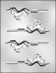 "3"" UNICORN SUCKER CHOCOLATE CANDY MOLD"