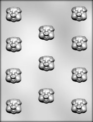 "1-1/4"" PIG FACE CHOCOLATE CANDY MOLD"