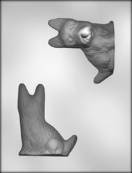 "3-3/4"" 3D SCOTTIE DOG CHOCOLATE CANDY MOLD"