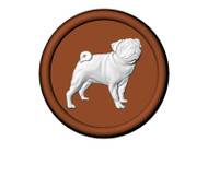 "PUG  ON 2-1/2"" ROUND  (5 CAVITIES PER SHEET) CHOCOLATE CANDY MOLD"
