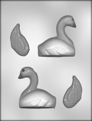 "3"" 3D SWAN CHOCOLATE CANDY MOLD"