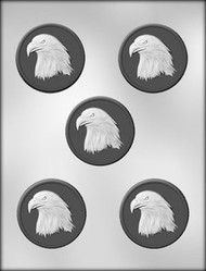 "2-1/2"" EAGLE MEDALION CHOCOLATE CANDY MOLD"
