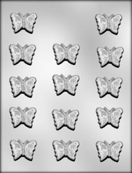 "1-3/4"" BUTTERFLY CHOCOLATE CANDY MOLD"