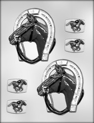 """4-3/8"""" HORSE/SHOE CHOCOLATE CANDY MOLD"""