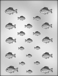 "1-1/8"" & 1-5/8"" FISH CHOCOLATE CANDY MOLD"