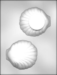 "4-1/4"" 3D CLAM SHELL CHOCOLATE CANDY MOLD"