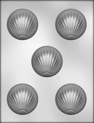 "2-3/8"" SHELL MINT CHOCOLATE CANDY MOLD"
