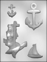 "5-5/8"" NAUTICAL ASSORTMENT CHOCOLATE CANDY MOLD"