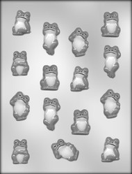 "1-1/4"" - 1-3/4"" FROG ASSORTMENT CHOCOLATE CANDY MOLD"