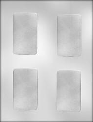 "3-3/8"" PLAIN CARD/BAR CHOCOLATE CANDY MOLD"