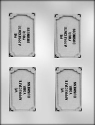"3-3/4"" APPRECIATE YOUR BUSINESS CARD/BAR CHOCOLATE CANDY MOLD"