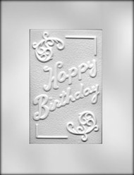 "6-1/4"" BIRTHDAY CARD/BAR CHOCOLATE CANDY MOLD"
