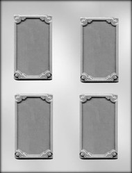 "3-3/4"" BORDERED CARD/BAR CHOCOLATE CANDY MOLD."