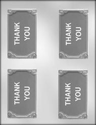 "3-3/4"" THANK YOU CARD/BAR CHOCOLATE CANDY MOLD."