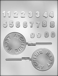 """2-3/4"""" H-BIRTHDAY/NMBRS SKR CHOCOLATE CANDY MOLD"""