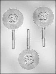 "2-3/4"" GOLDEN OLDIE SUCKER CHOCOLATE CANDY MOLD"