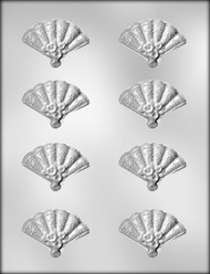 """1-3/8"""" FAN CHOCOLATE CANDY MOLD"""
