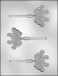 "2-1/2""CROWN SUCKER CHOCOLATE CANDY MOLD"