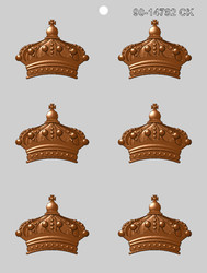 """2.5"""" CROWN CHOCOLATE CANDY MOLD"""