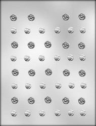 "1/2"" & 5/8"" MINI ROSE ASSTMT CHOCOLATE CANDY MOLD"