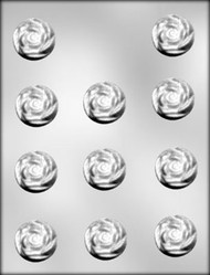 "1-1/4"" ROSE CHOCOLATE CANDY MOLD"