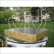 "Square Golden Elegance Stand/Display Base--Choose From 14"", 16"" or 18"""