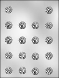"7/8"" ROSE CHOCOLATE CANDY MOLD"