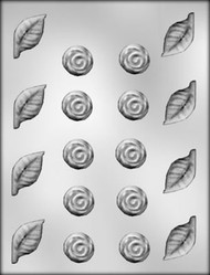 ROSE/LEAF ASSORTMT CHOCOLATE CANDY MOLD