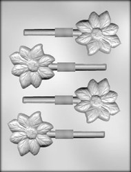 "2-3/4"" FLOWER SUCKER CHOCOLATE CANDY MOLD"