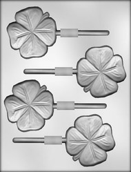 4-LEAF CLOVER SUCKER CHOCOLATE CANDY MOLD