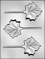 "3"" MAPLE LEAF SUCKER CHOCOLATE CANDY MOLD"