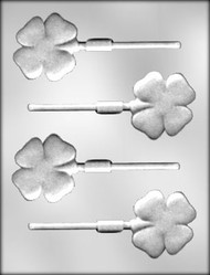 "2"" 4-LEAF CLOVER SKR CHOCOLATE CANDY MOLD"
