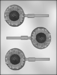 "2-3/4"" SUNFLOWER SKR CHOCOLATE CANDY MOLD"